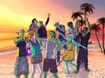 21. Vacation - AI beach party by Sorianumera