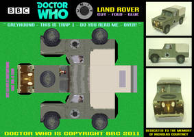 Doctor Who - Unit Land Rover by mikedaws
