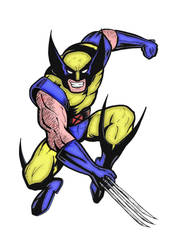 Wolverine by mikedaws