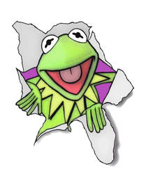 Kermit the Frog by mikedaws