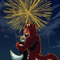 Fireworks - Mazri Fest Mayhem! by FrostedWatercolor