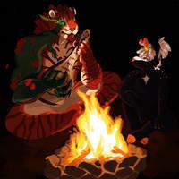 Campfire - Mazri Fest Mayhem! by FrostedWatercolor