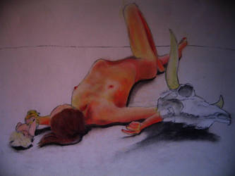 Nude + Props by AlyssaMarae