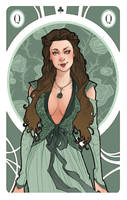 Game of Thrones' cards   Queen Margaery Tyrell by SimonaBonafiniDA