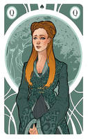 Game of Thrones' Cards   Queen Sansa Stark by SimonaBonafiniDA