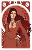 Game of Thrones' cards   Queen Melisandre by SimonaBonafiniDA