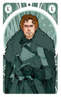 Game of Thrones' cards   King Robb Stark by SimonaBonafiniDA