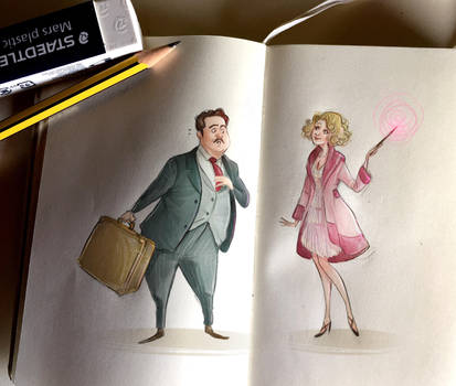 Notes and sketches   Jacob and Queenie by SimonaBonafiniDA