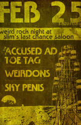 Show Poster - Sky Penis, Toe Tag by RyanJGill