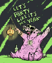 party like its year of the pig by Zvyrke