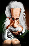 Caricature Albert Einstein by crazedude