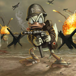 donald duck war by eXcrem