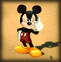 Mickey Mouse - bad day by eXcrem