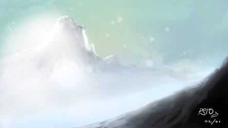 Mountains: Speedpainting Exercise by psionaut
