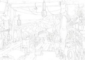 [SVIGNORE] Amie Village (line drawing) by Nonohara-Susu