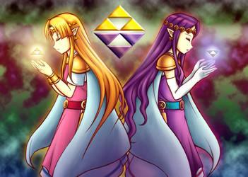 Princesses of the Triforce Unity by Thaumana