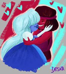 Sapphire x Ruby by DeskaChan