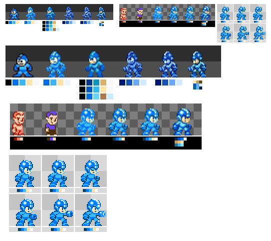 Custom Megaman Sprite Nes by BerserkerOx