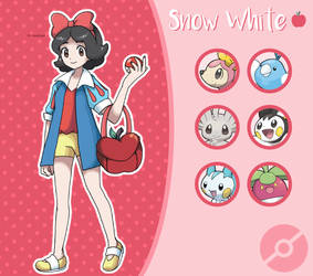 Disney Pokemon trainer : Snow White by Pavlover