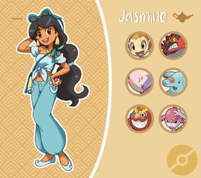 Disney Pokemon trainer : Jasmine by Pavlover