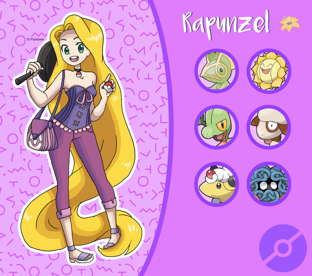 Disney Pokemon Trainer : Rapunzel By Pavlover On DeviantArt