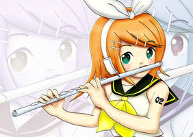 Rin Kagamine -  Vocaloid by 117ps