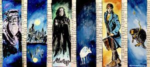 3 potterhead bookmarks... :) by WormholePaintings