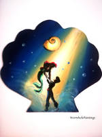 Little Mermaid silhouette by WormholePaintings