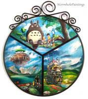 Ghibli themed tondo :3 by WormholePaintings