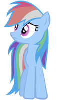 Rainbow Dash Vector - Sad by Anxet