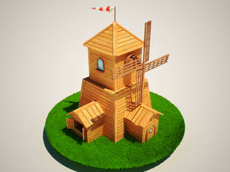 Mill, lowpoly by RaMoNVicious