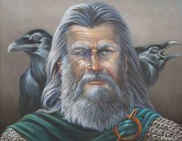 Portrait of Odin by Wolverat