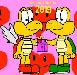Valentine's Day 2019 For Koopa And Paratroopa by macloud34100