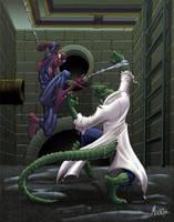 SPIDER-MAN VS. THE LIZARD by HEARTBREAKKID