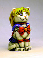 Sailor Moon Kitty Painted by Switchum