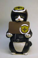 Biker Kitty card holder- Cat Hospital version by Switchum