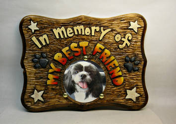 In Memory of my best friend plaque by Switchum
