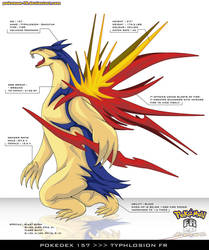 Pokedex 157 - Typhlosion FR by frbrothers86