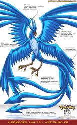 L'Pokedex 144 - Articuno FR by frbrothers86