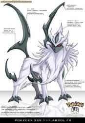 Pokedex 359 - Absol FR by Pokemon-FR