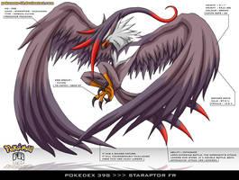 Pokedex 398 - Staraptor by Pokemon-FR