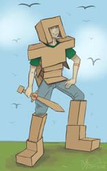Knight In Make-Shift Armor by Ukatofox