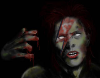 Zombie Bowie by RosieFreakish
