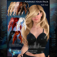 Instant Painted Hair PSD - Amparao add on hair by MakeMeMagical