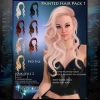 Instant Hair PSD Stock - Jasmine | 2000px 300dpi by MakeMeMagical
