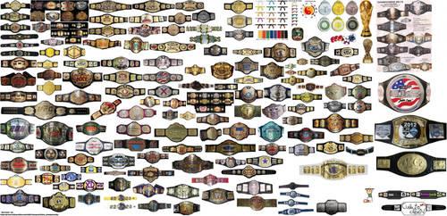 some belt champion stuff by limpbizkit9001
