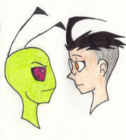 Zim and Dib by deusodemon