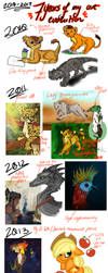 2010-2017 Art Evolution by ToxicKittyCat