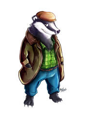 Badger Farmer by amorias