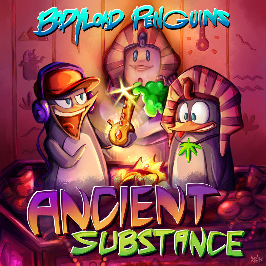 BodyLoad Penguins - Ancient Substance - Cover Art by amorias